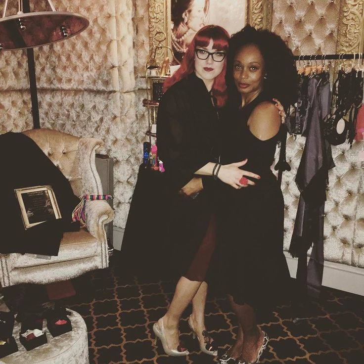 Seriously cannot get enough of this wonderful woman  snuggling in our own little Boudoir at @14lsq for last night's @killingkittens_ @kuriouskittens #hookkup even last night. Thanks to everyone who came  #Boudoir #lingerie #luxury #womeninbusiness #sisterhood #teamsexy