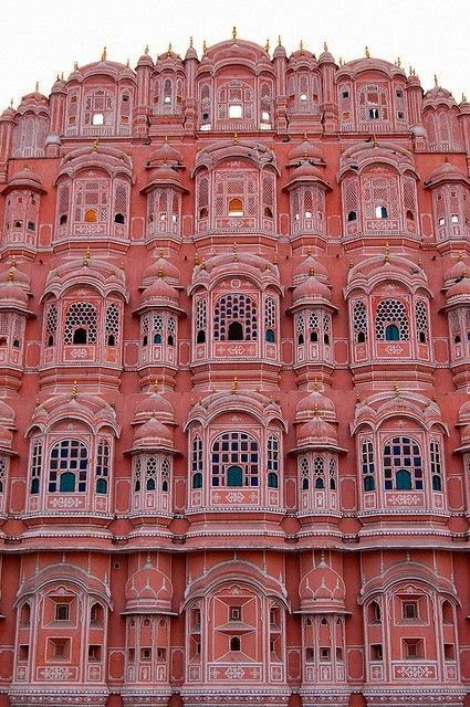 "Hawa Mahal (Hindi: हवा महल, translation: ""Palace of Winds"" or ""Palace of the Breeze""), is in Jaipur, India."