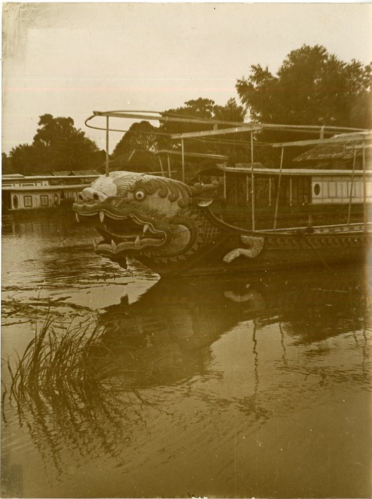 An unusual dragonboat spotted on the Mekong, early 20th century. Unknown fate.