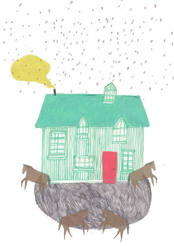 Horse and house. Amyisla Mccombie.
