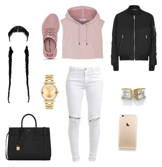 """Untitled #45"" by jenah-dv on Polyvore featuring Movado, FiveUnits, Topshop, adidas and Yves Saint Laurent"