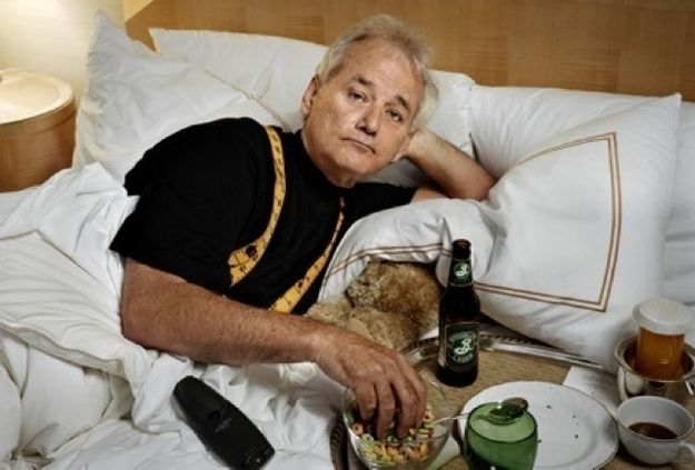 Because he eats breakfast in bed, with beer | 53 Reasons To Go Batshit Over The Birth Of Bill Murray