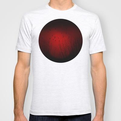 La tarde roja T-shirt by unaciertamirada - $18.00