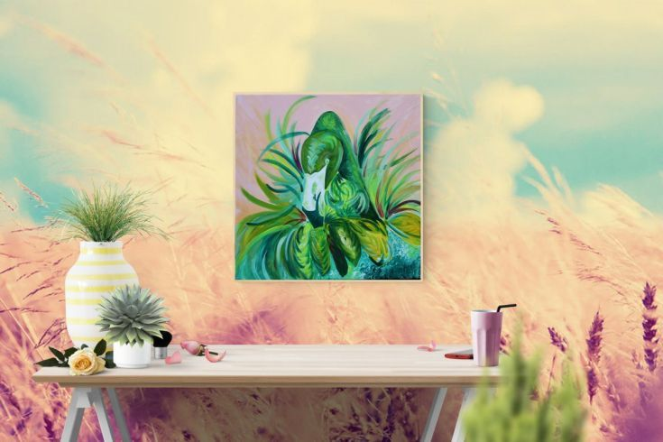 Buy Unique Flamingo, Acrylic painting by Silvie Tripes on Artfinder. Discover thousands of other original paintings, prints, sculptures and photography from independent artists.