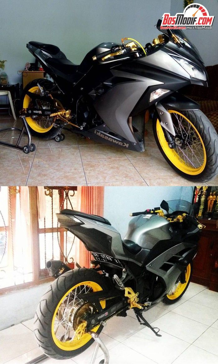 Modifikasi ninja 250 fi grey jari minimalis at yogasmarawr