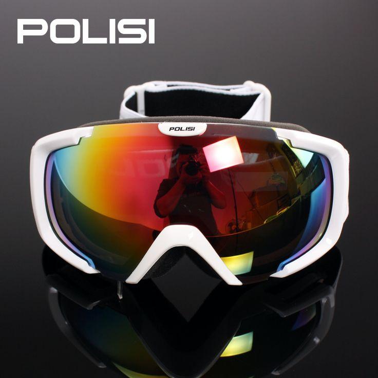 Professional women ski goggles double layer lens