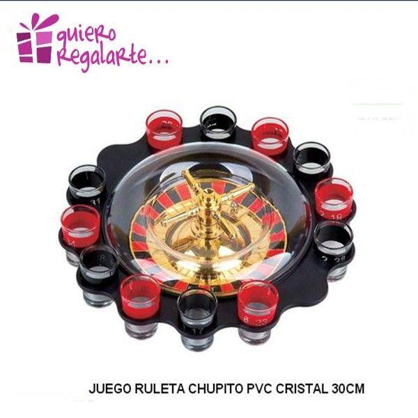 JUEGO RULETA DE CHUPITOS http://www.quieroregalarte.com/regalos-originales-y-divertidos/118-ruleta-de-chupitos-8424001030880.html Un juego divertido para todos...... Rellena los chupitos con lo que quieras, gira la ruleta y a beber lo que te toque.