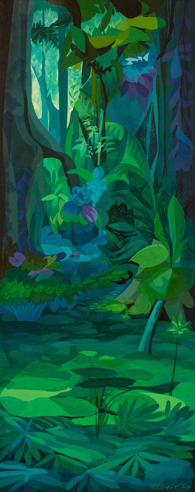 Walt Peregoy - Jungle Book concept art 1964