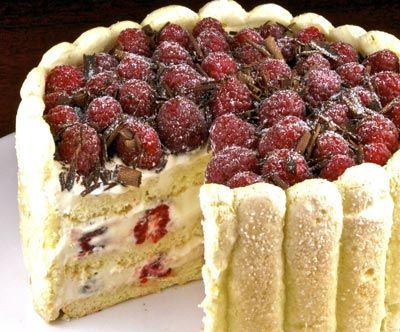 This recipe for the Raspberry Tiramisu caught my eye for the blend of creams used.
