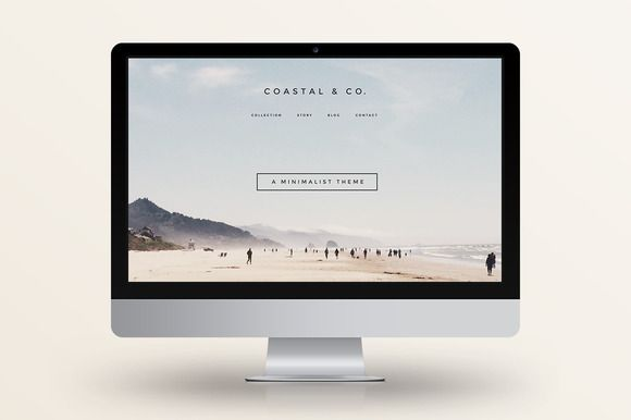 Check out 40% Off! Coastal - WordPress Theme by Station Seven on Creative Market: