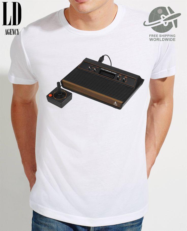 T-SHIRT ATARI / tshirt video games/ tee arcade games  / tshirts consoles  / tees atari 2600 / tshirt computer / pac-man / pong / breakout by LDAgency on Etsy