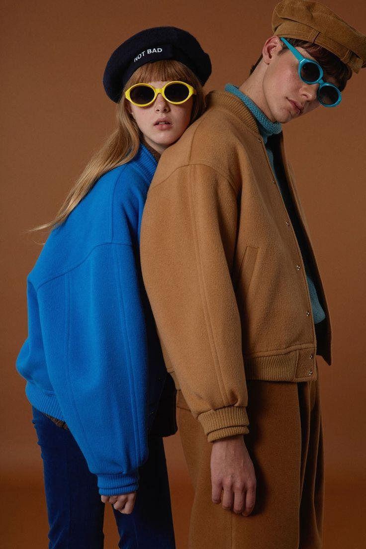 Baseball jacket Camel&blue twin look love