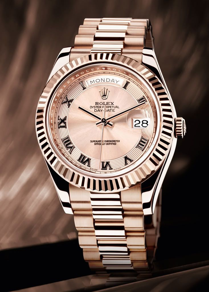 Rolex Day-Date in Everrose gold /// Founded 170 years ago, GOBBI 1842 is an official retail store for refined jewelleries and luxury watches such as Rolex in Milan. Check the website : http://www.gobbi1842.it/?lang=en