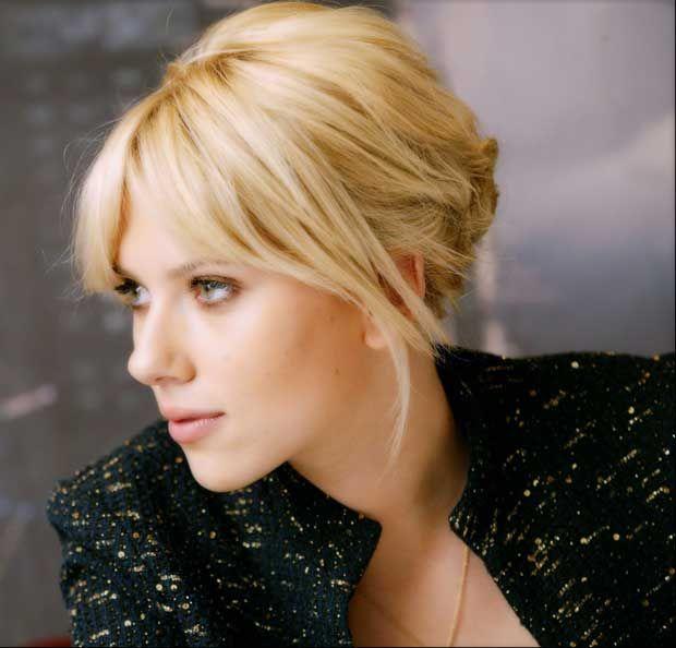 bangs bangs bangs: Messy Hairstyles, Idea, Scarlett Johansson, Fashion Makeup Hairstyles, Messy Bun Hairstyles, Sassy Hairstyles, Haircut, Updo