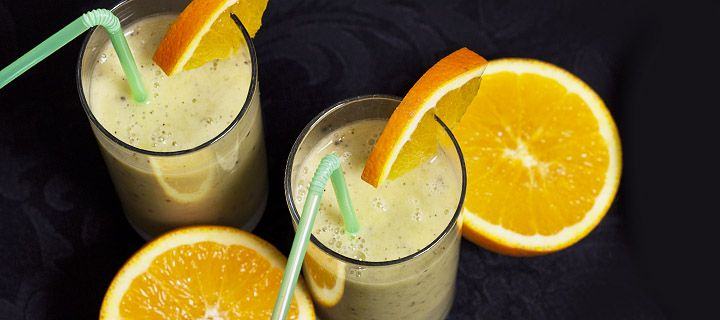 Banaan kiwi sinas smoothie