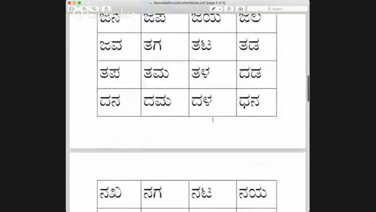 Kannada Basic Two Letter Words And Puzzle Part 1 Two Letter Words Letter N Words 2 Letter Words