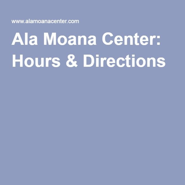Ala Moana Center: FREE Parking!