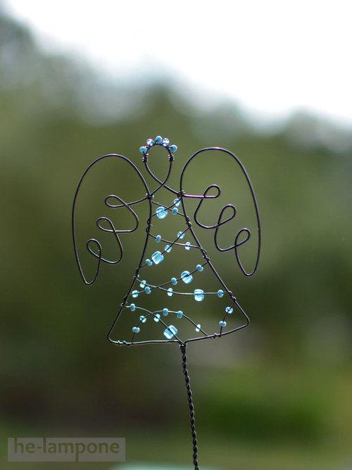 Anděl... strážce květin angel wire art