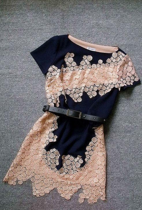 peachy lace dress