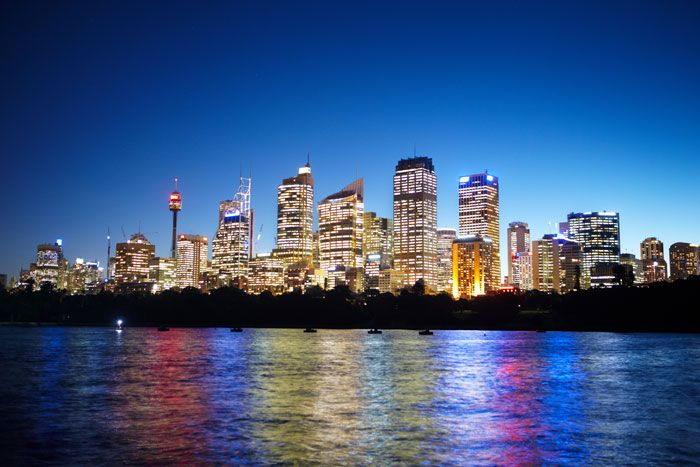 Sydney CBD Area Taken at night from the Harbour Side Visit us on http://www.campbelltowndentalcare.com.au