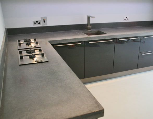 Polished Concrete Worktop Surfaces - Concreations Ltd