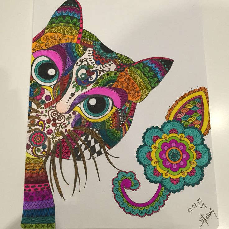Cat, Mandala, zentagle, colorful mandala, colorful zentagle, art, mandala art, zentagle art, doddle