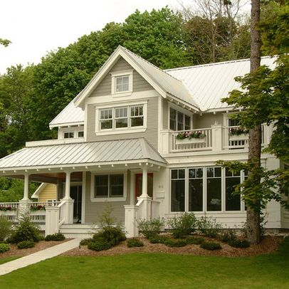 Farmhouse Exterior Grey Design Ideas, Pictures, Remodel, and Decor - page 11