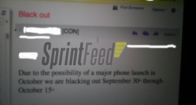 Internal memo points to Sprint iPhone 5 launch in early October
