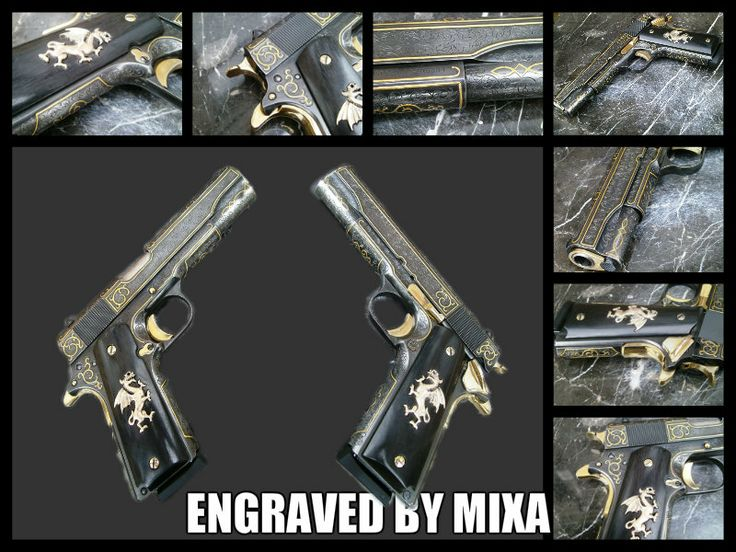 1911 engraved and gold inlay