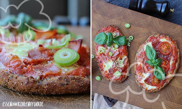 Low-Carb Pizza-Baguettes