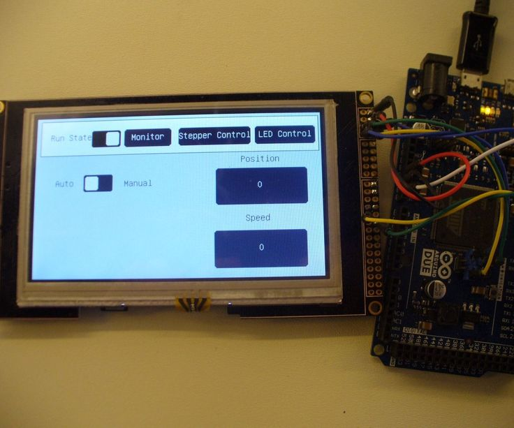 This is a guide showing an easy way to set up an LCD touchscreen interface with arduino, or other similar microcontrollers.It's also shameless self-promotion of my kickstarter... which focuses on making it super easy to program a nice GUI.This example is a basic stepper driver control system.