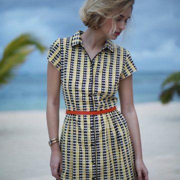 Patron gratuit à télécharger: la robe-chemise - Marie Claire Idées