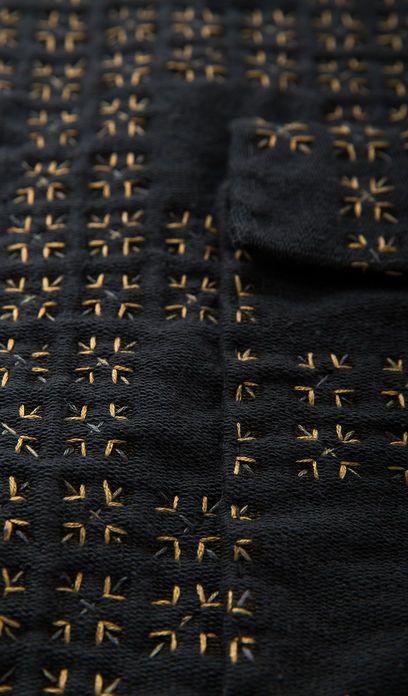 Alabama Chanin 2 Tartan Jacket, hand stitching on WS french terry fabric