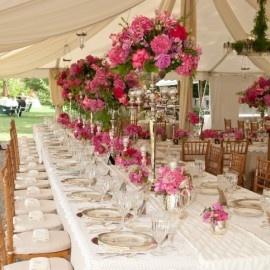 antique silver floral centerpieces: Wedding Flowers Arrangements, Antiques Silver, Wedding Tables, Pink Flowers, Vintage Wedding, Wedding Ideas, Flowers Ideas, Wedding Centerpieces, Tall Centerpieces
