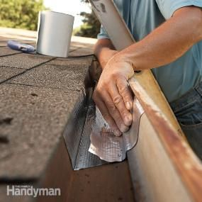 Gutter repair tape stops leaks and solves gutter problems caused by rusting and separated joints.