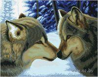 Вышивка крестом `Два волка`