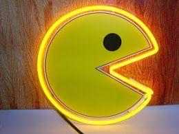 PacMan Yellow Logo Neon Bar Mancave Sign