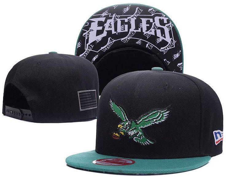 Men's Philadelphia Eagles New Era 9Fifty NFL Crafted in America Snapback Hat - Black / Green