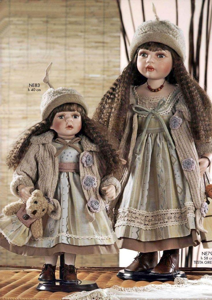 Bambole in porcellana da collezione