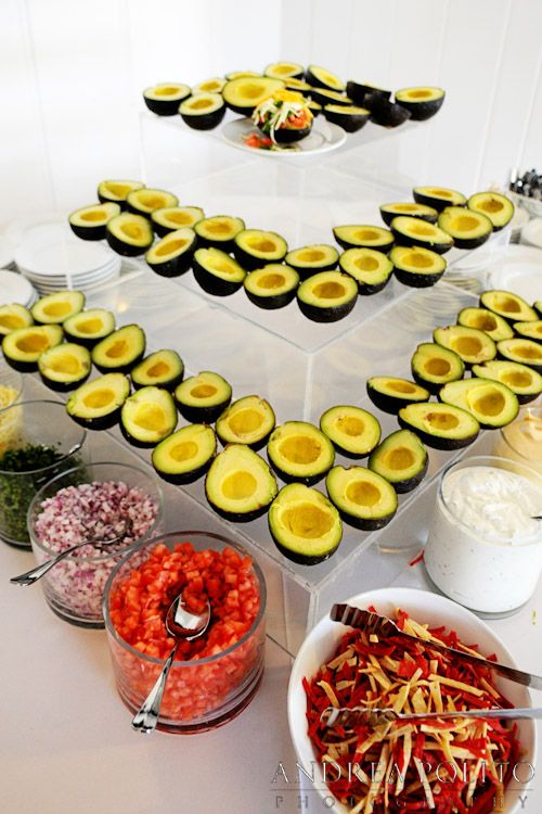 An Avocado Bar Makes A Great Appetizer Station Wedding