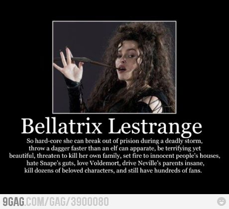 Bellatrix Lestrange- One of the best casting jobs they did for the movie