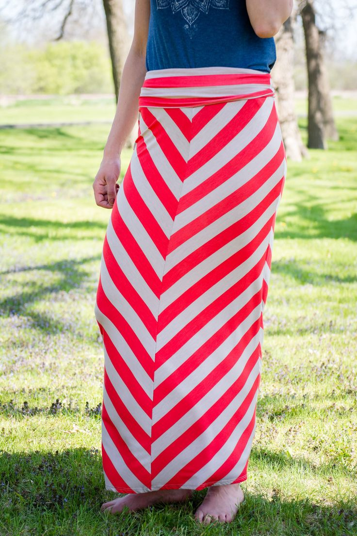 Stripped Maxi Skirt (two colors)