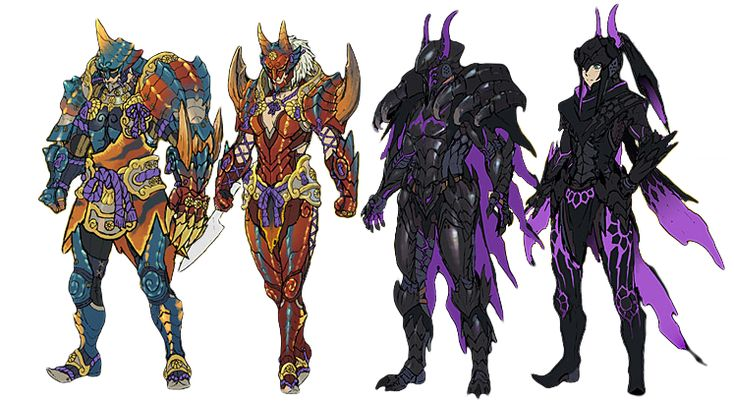 monster hunter 3 ultimate armor // I might make the one on the right.. Hmmmmm decisions.