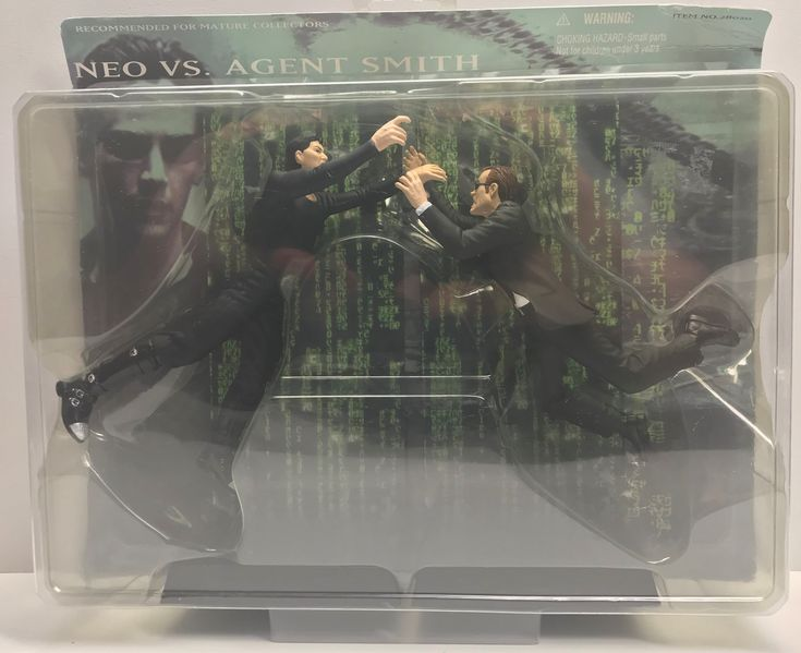 We always have the hottest Vintage Toys at The Angry Spider.  Now available: TAS038620 - 2000 ...  Check it out here: http://theangryspider.com/products/tas038620-2000-n2toys-the-matrix-neo-vs-agent-smith?utm_campaign=social_autopilot&utm_source=pin&utm_medium=pin