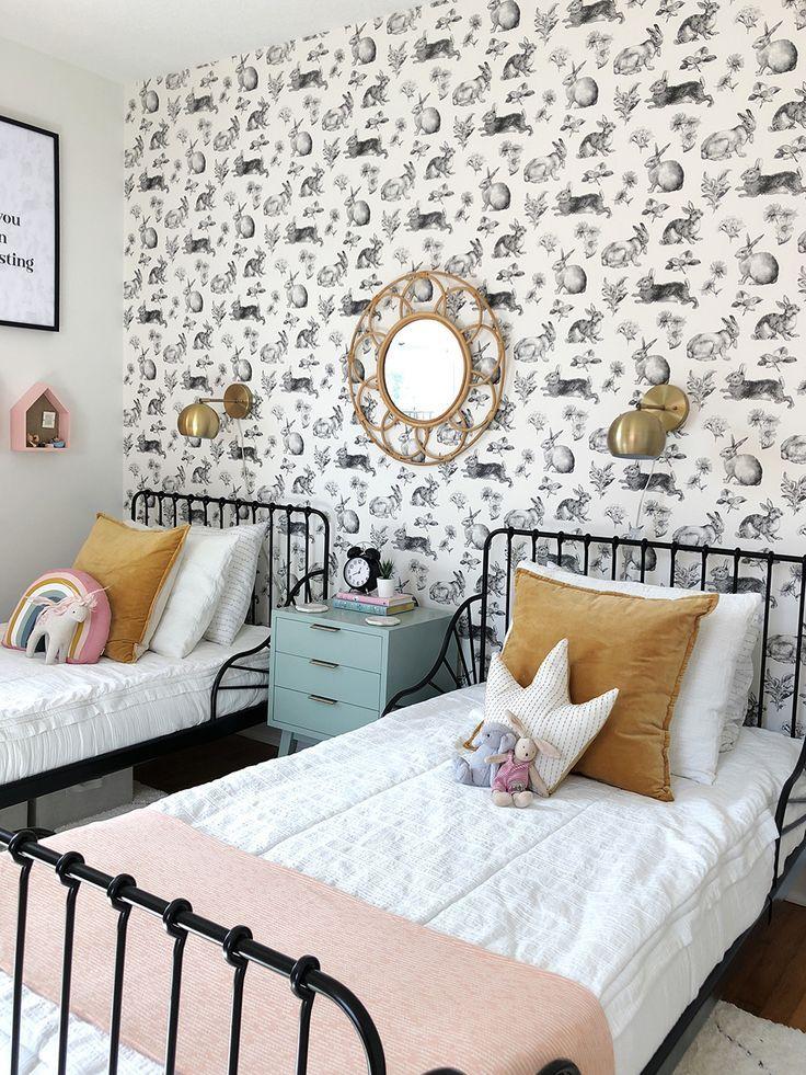 Girls Bedroom Reveal One Room Challenge Week Six Girls Bedroom Makeover Shared Girls Room Shared Girls Bedroom