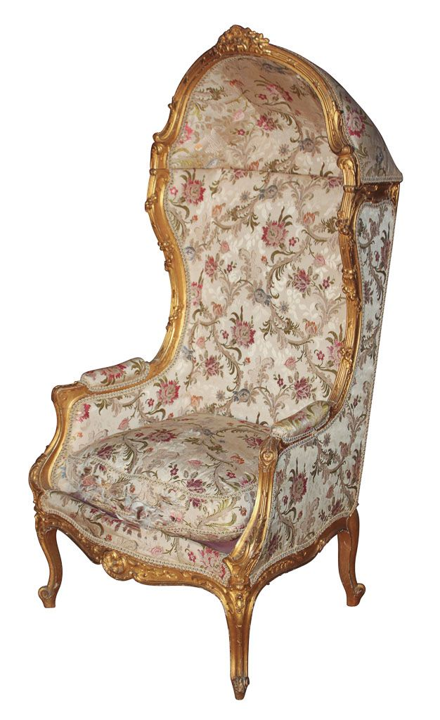 Very Fine 19th C French Giltwood Bonnet Chair