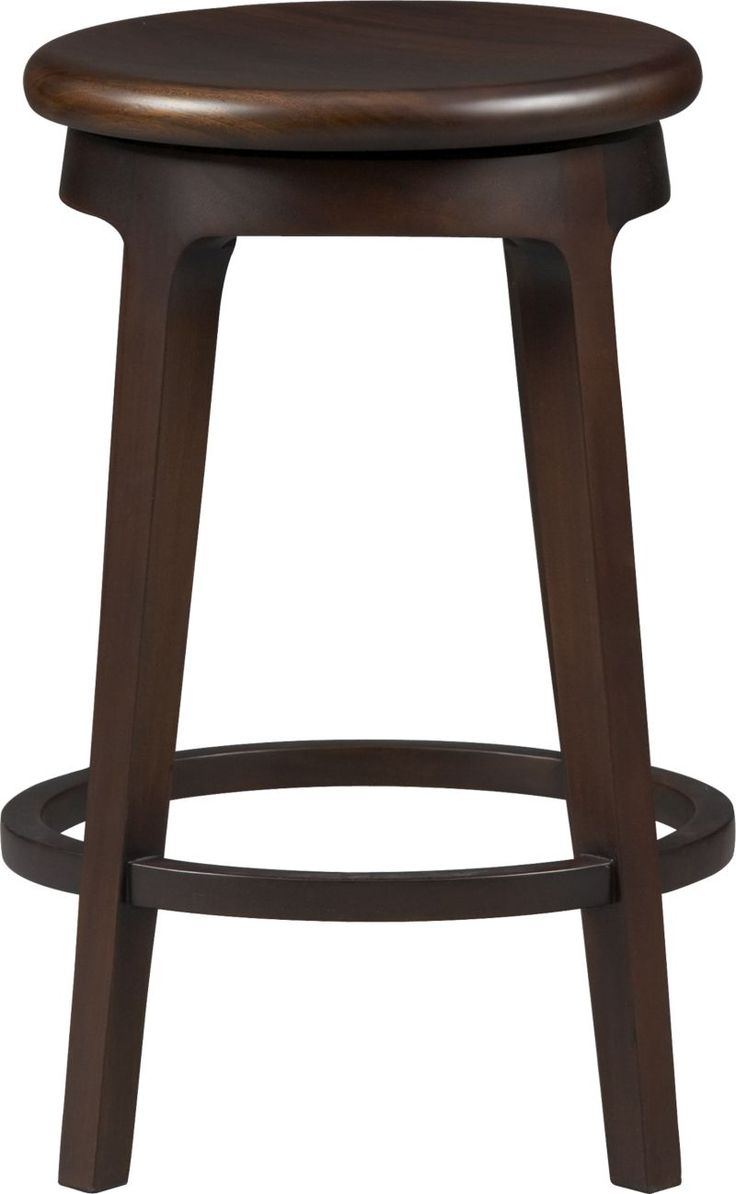 Simple Lines Warm Mahogany And A 360 Degree Swivel Seat