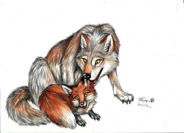 Волк и лиса картинки прикольные