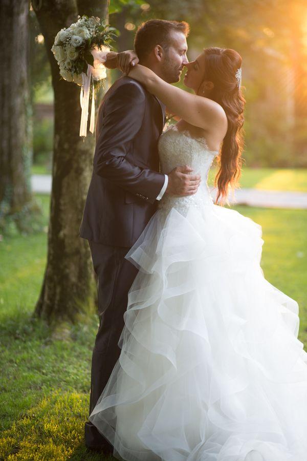 Bride and groom sunkissed