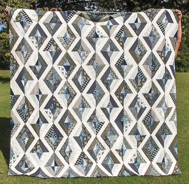 Prism quilt pattern in Parson Gray fabrics | Flickr - Photo Sharing!